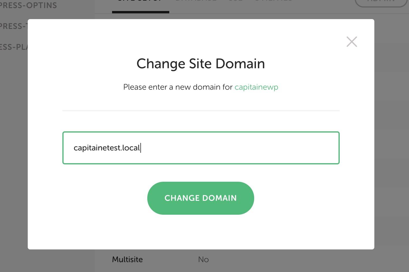 Changer le nom de domaine d'un site