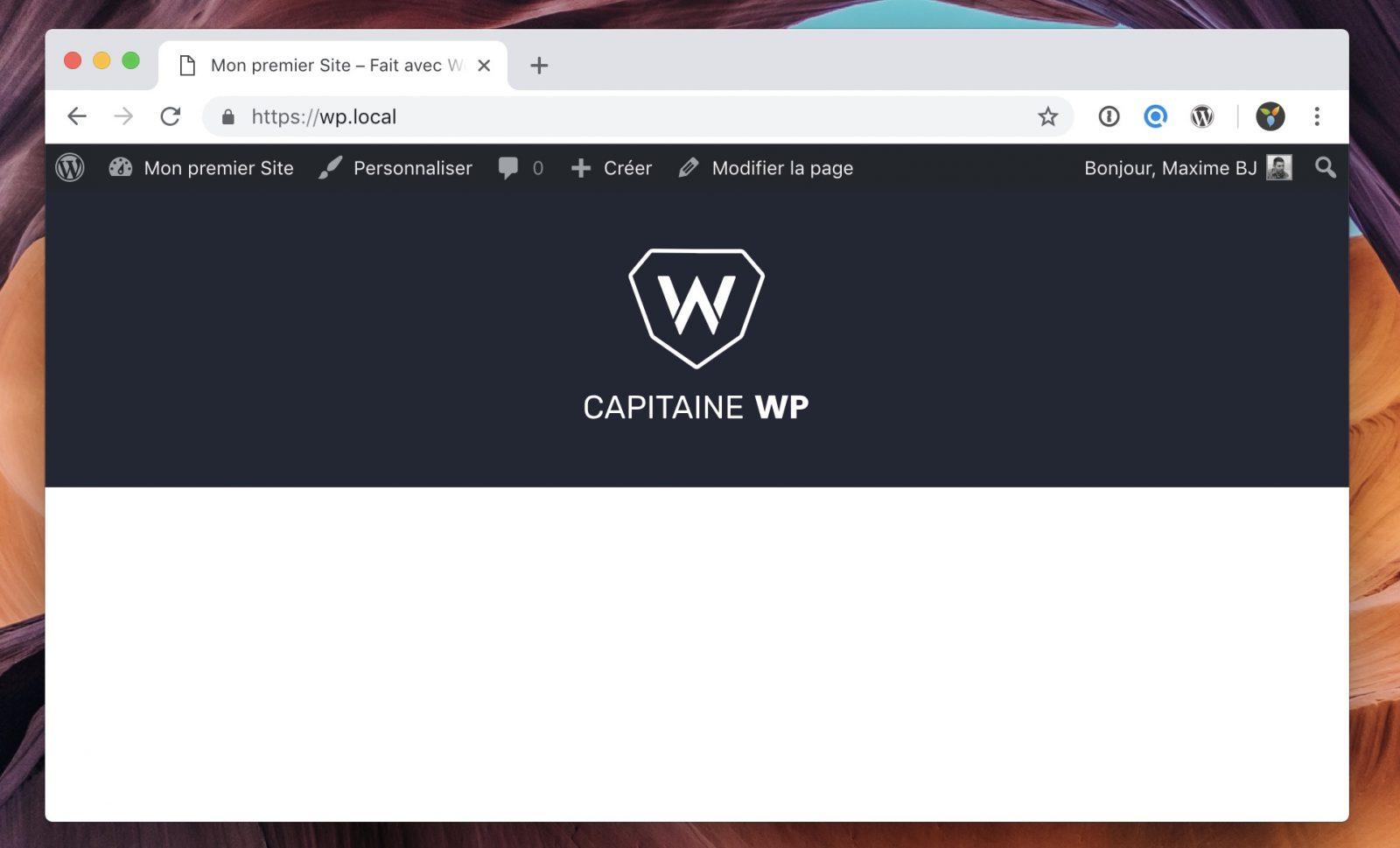 Le fichier header.php affiche désormais le logo en haut du site