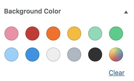 Palette de couleur