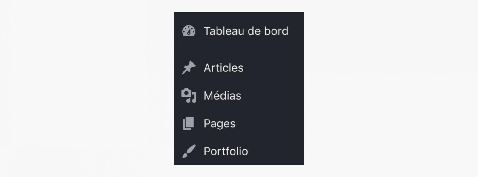 Les types de publication personnalisés dans l'interface d'administration de WordPress
