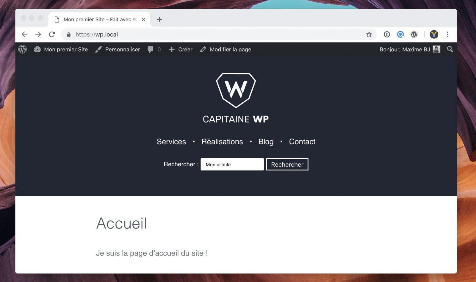 Le moteur de recherche de WordPress