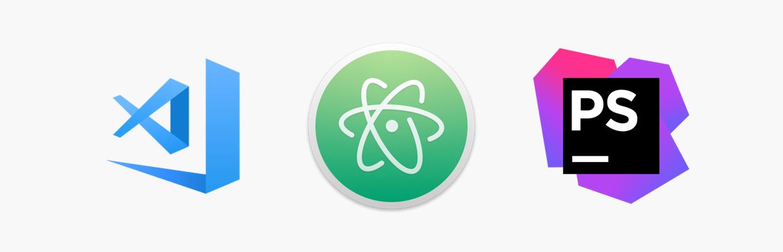 Logo des principaux éditeurs de code